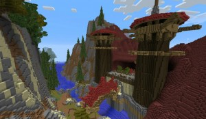 Capitale des Orc Orgrimmar dans le Monde de Warcraft wow world of warcraft minecraft