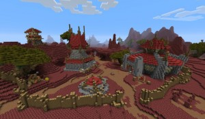 Le village de la Croisée des chemins dans le Monde de Warcraft xroad wow crossroad world of warcraft minecraft