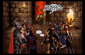 Leerooy Jenkins avengers world of warcraft dessin ironman spiderman thor