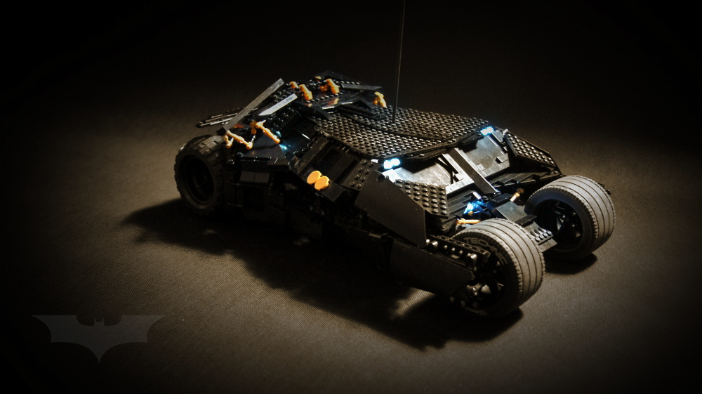 une batmobile enti rement en lego nerdpix. Black Bedroom Furniture Sets. Home Design Ideas