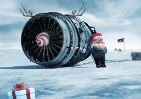 ligne aerienne pere noel aviation commercial reacteur