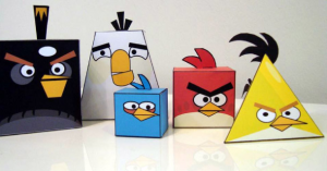 Little Plastic Man papertoys angry birds