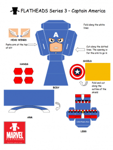 Little Plastic Man papertoys captain america