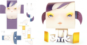 Tougui papertoys Miss Miza