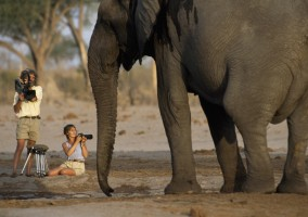 Photographes avec un elephant National Geographic