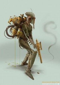 Steampunk boba de star wars