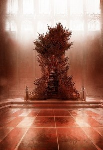 le throne de Game of Thrones par George R.R. Martin