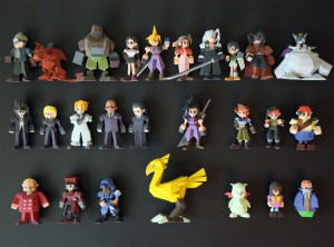 figurines de Final Fantasy VII en 3D Low Polygon
