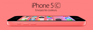 iphone 5C rose color apple