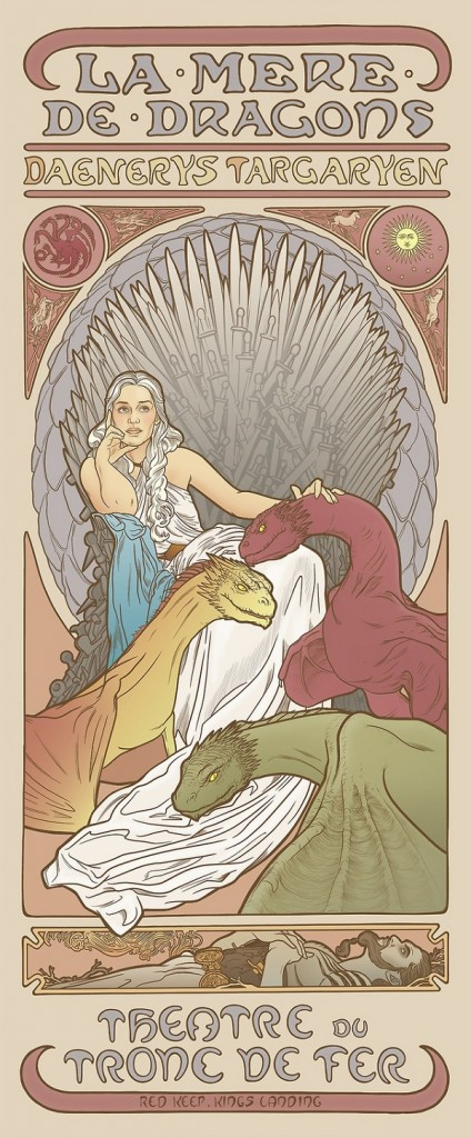 game-of-thrones-la mere de dragons style 18 renaissance style style Art Nouveau