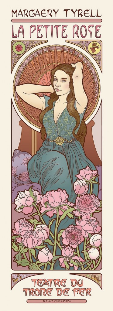 game-of-thrones-margery tyrell la petite rose throne de fer  style style Art Nouveau 18 renaissance