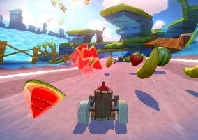 jeu video angry birds go kart oiseau fruit