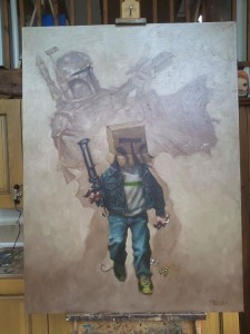 Star wars enfant adulte peinture by Craig-Davidson 3