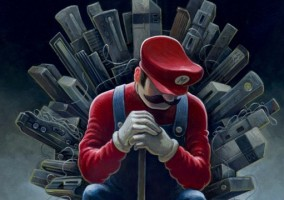 mario game of thrones geek nerd jeu video
