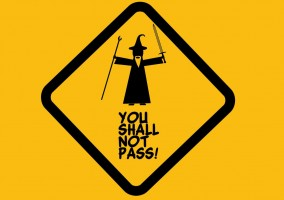 You-shall-not-pass panneau