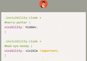 css humour big bang harry potter cloak