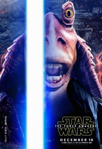 jar jar bing affiche star wars reveil force