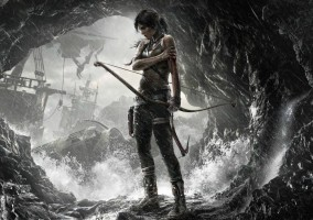 tomb raider 2013 girl fille arc noir et blanc