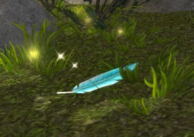 Une plume bleue world of warcraft